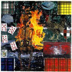 Jennifer Bartlett: Elements: 4 Fire Pastel on paper