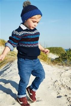 Buy Fairisle Pattern Crew from the Next UK online shop Boys Fashion Dress, Boys Fall Fashion, Kids Fashion Show, Fashion Dress Up Games, Baby Boy Fashion, Cheap Fashion, Fashion Wear, Fashion Clothes, Luxury Kids Clothes