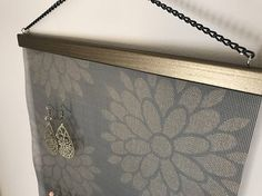 Bronze Floral Wall Hanging Jewelry Organizer