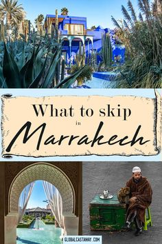 See what things are better to be skipped in Marrakesh, Morocco Visit Marrakech, Marrakech Travel, Morocco Travel, Marrakech Morocco, Africa Travel, Beautiful Places To Visit, Beautiful Sites, Where To Go, Morocco