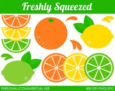 Freshly Squeezed Clipart  Digital Clip Art by MareeTruelove, $5.00