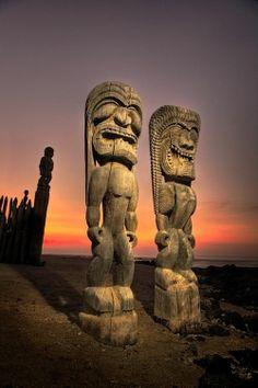 Pu'uhonua O'Honaunau, City of Refuge, The Big Island, Hawaii, USA