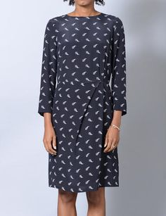 Boy by Band of Outsiders triangle print gather front dress
