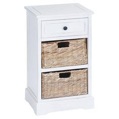 Captivating DecMode 1 Drawer 2 Basket Nightstand   96180