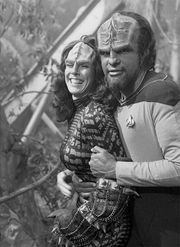 Two of my favourite Star Trek TNG characters - Worf and K'Ehleyr (Michael Dorn…