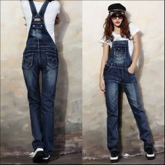 Female New Brand Fashion Street Denim Bib Summer and spring Women Jeans Spaghetti Strap Slim Pants jardineira jeans feminina Womens Denim Overalls, Denim Jumpsuit, Bodycon Jumpsuit, Jean Overalls, White Jumpsuit, Jumper Pants, Denim Jumper, Women's Pants, Denim Jeans