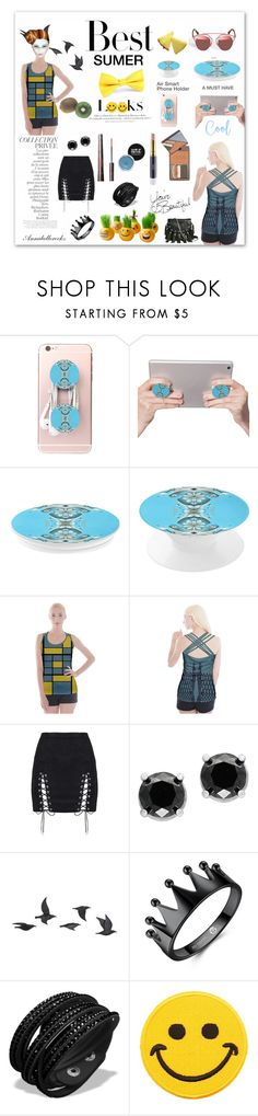 """Tops & phone holder by Annabellerockz"" by annabellerockz ❤ liked on Polyvore featuring By Terry, H&M, Effy Jewelry, Jayson Home, Hollywood Mirror, GUESS by Marciano, outfit and annabellerockz"