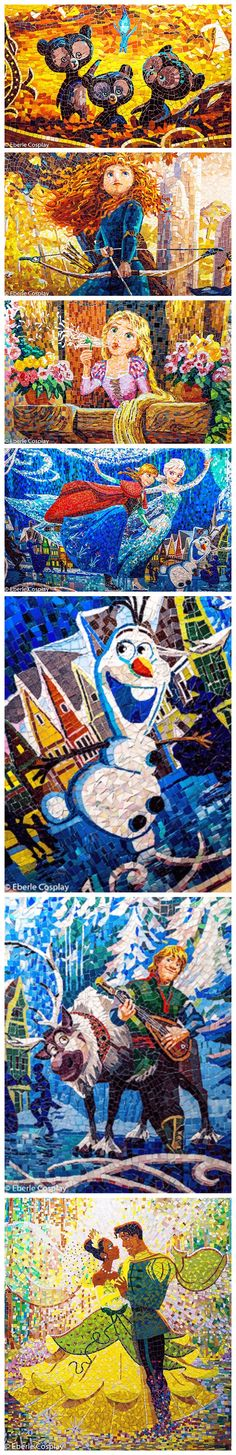 The mosaics from Enchanted Storybook Castle at Shanghai Disneyland, by EberleCosplay