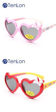 TenLon Glasses Children Polaroid Kids Heart-shape Sunglasses Cute Party  style Children Sunglasses Oculos De Sol Gafas infantile 609e5a96b0