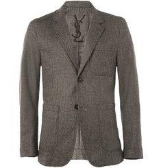 Yves Saint LaurentUnstructured Tweed Blazer