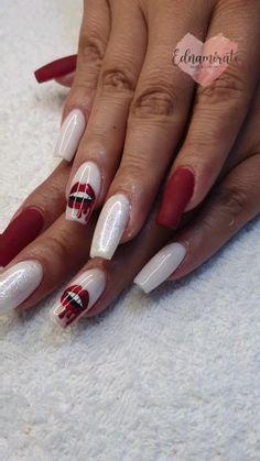 Nail Art Designs Videos, Nail Designs, Red Glitter, Glitter Nails, Matte Nails, Acrylic Nails, Patriotic Nails, Stylish Nails, Long Nails