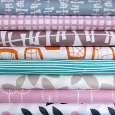 """Glimma by Lotta Jansdotter for Windham Fabrics  """"My third collection Glimma is full of lovely colours:  emerald green and warm orange with accents in rosey pink, slate and dandelion.  New and classic designs inspired by my Scandinavian heritage and trips to japan were paired to make a collection perfect for everyday living.  Introducing a selection of soft canvas this season for even more project possibilities, what are you going to make?"""""""