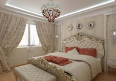 We share with you the luxury interior design, top interior designs, best interior designs in this photo gallery. Interior Design Examples, Luxury Interior Design, Baroque Bedroom, Decoration Baroque, Dream Bedroom, Curtains, House, Furniture, Style