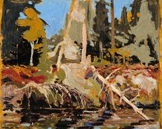 """Early Autumn, Algonquin Park,"" Tom Thomson, 1915, oil on wood, 8.35 x 10.45"", Montreal Museum of Fine Arts."