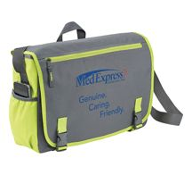 [3555-11] Punch Compu-Messenger Bag - Leed's Promotional Products