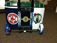 Back of cooler idea for coolers with wheels!