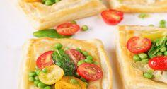 Artichoke and Feta Tarts with Tomato Salad