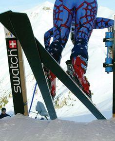 Ski race start....