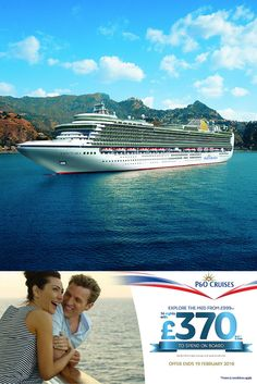 Up to a whopping per cabin FREE on-board credit* with P&O Cruises 14 nights, Mediterranean cruise from in an outside cabin (T&Cs apply) P&o Cruises, Cruise Holidays, Cruise Travel, Travel Deals, The Outsiders, How To Apply, Italy, Cabin, Explore