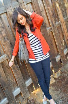Pop of color & stripes! <3
