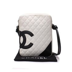 CHANEL Shoulder  Cambon Shoulder bags White Leather A25178