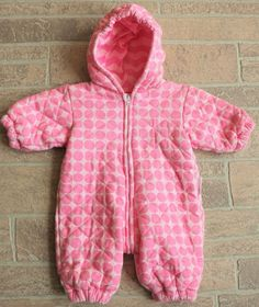 b57432129 Marimekko Pink Polka Dot Quilted Cotton Snowsuit Bunting Baby Girl Newborn  NB #Marimekko #Snowsuit