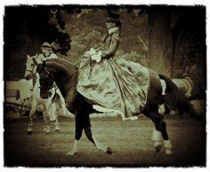 Horse Photography: Vintage Side Saddle