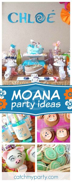 Take a look at this fantastic Moana birthday party. The Pua cake pops are awesome!! See more party ideas and share yours at CatchMyParty.com
