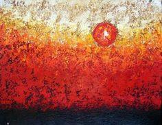 Destellos del Sol Autor: José Contreras Categoría: Pintura. Técnica: Oleo a la espátula con hoja de oro sobre papel Daponte. Medidas: 50 x 65 cms. Fecha: 2009. Marco: Sí. Firma: Sí.