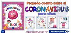 Pequeño cuento sobre el coronavirus para niños I Material Educativo Pie, Preschool Journals, Preschool Worksheets, Preschool Writing, Preschool Printables, Educational Crafts, Activities For Kids, Torte, Cake