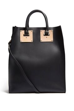 Sophie Hulme Black Large Structured Leather Tote Bag, $935