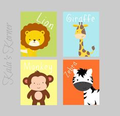 nursery art jungle nursery safari nursery giraffe by KalasKorner, $36.00