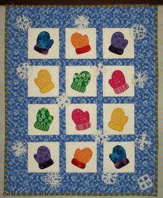 Damsel Quilts & Crafts: MAGIC MITTEN WALL QUILT