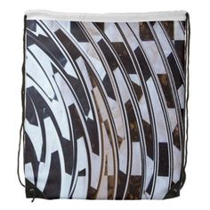 Black and White Pattern Cinch Bags