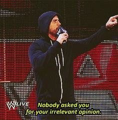 That's right! You tell em Punk ☺☺