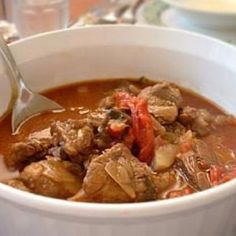 Paprika lamb stew.Spicy lamb with vegetables,very tasty lamb stew casserole.