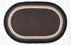 """ITC-08 Cocoa/Black/Natural In The City Oval Rug 20""""""""x30"""""""""""