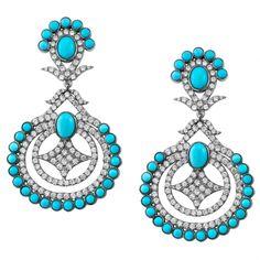 medina black rhodium chandelier cz and turqouise Black Rhodium, Cute Summer Outfits, Turquoise Earrings, Wedding Jewelry, Chandelier, Jewels, Drop Earrings, Bracelets, York