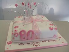 80th birthday cakes for women designs | CAKE - 80TH IN PINK | Flickr - Photo Sharing!