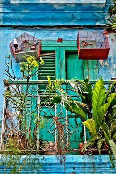 Balcony Bird CagesCuba by AroundTheGlobeImages on Etsy, $30.00