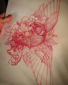 #tattoo #tattooed #ink #design #illustration #animal #bird #neo #traditional #traditionel