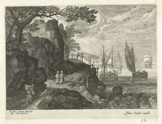 roelant savery (after): harbour view (gezicht op een haven) Wood Engraving, Amsterdam, Gallery, Prints, Painting, Etchings, Aqua, Plate, Travel
