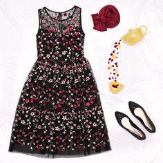 Sugar Island Dress   Black And Multi   Dress