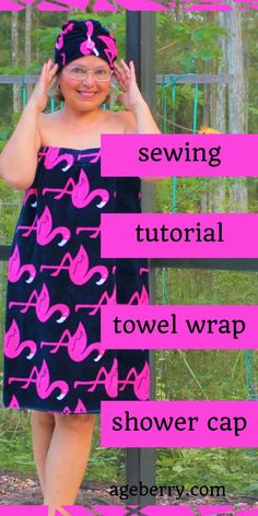 70215ffbe3 How to sew a bathrobe and a shower cap from terry towels