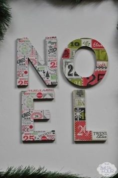 Easy Mod Podge Christmas Decoration