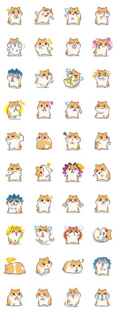 Chloe the hamster – LINE stickers Kawaii Doodles, Cute Doodles, Kawaii Art, Chibi, Kawaii Stickers, Cute Stickers, Kawaii Drawings, Cute Drawings, Cute Hamsters