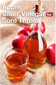 Apple cider vinegar is a surefire natural remedy for #sore #throat.