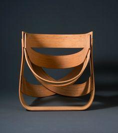 Chaise en bambou par Tejo Remy et Rene Veenhuizen