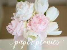 Learn how to create paper peonies with crepe paper. Learn how to create paper peonies with crepe paper. Handmade Flowers, Diy Flowers, Flower Crafts, Flower Diy, Peony Flower, Fabric Flowers, Diy Paper, Paper Crafts, Diy Crafts