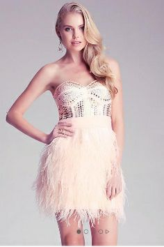 Bebe Isis Studded Feather Dress